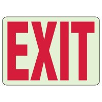 Luminous Glow In The Dark Exit Sign