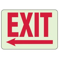 Exit Right Arrow Sign (White)