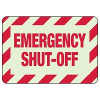 Emergency Shut Off  Glow Sign