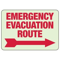 Glow In The Dark Emergency Evacuation Route Sign (Arrow Right)