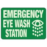 Emergency Eye Wash Glow Sign