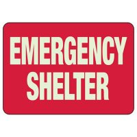 Glow In The Dark Shelter Sign