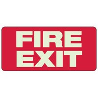 "Fire Exit Sign, 6-1/2"" x 14"