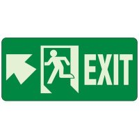 Glow In The Dark Exit Egress Sign (Exit Up)