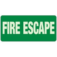Fire Escape Glow Sign