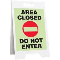 Area Closed Do Not Enter Glow Floor Stand