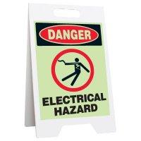 Glow Floor Stands - Danger Electrical Hazard
