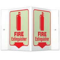 Glow-In-The-Dark Projecting Wall Signs - Fire Extinguisher