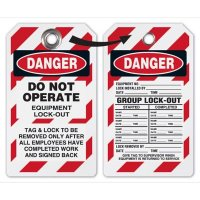 Danger Do Not Operate Group Lock-Out Tags