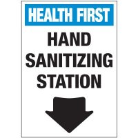 Hand Sanitizing Station Label