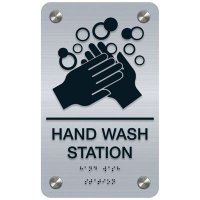 Hand Wash Station - Premium ADA Facility Signs