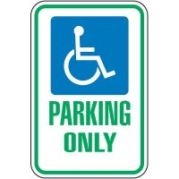 Parking Only (handicap symbol) Sign
