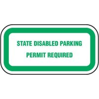 State Disabled Parking Permit Sign - Washington