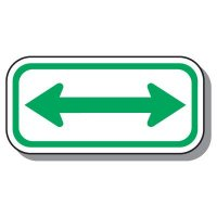 Handicap Parking Signs - Double Arrow