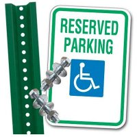Handicap Reserved Sign Parking Kit