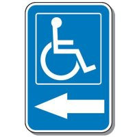 Handicap Parking Directional Symbol Sign