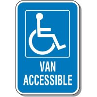 Van Accessible Handicap Sign