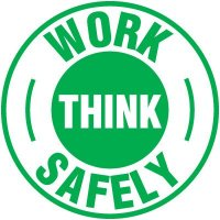 Safety Training Labels - Work Think Safely