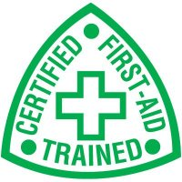 Safety Training Labels - Certified First-Aid Trained