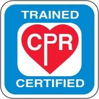 Safety Training Labels - Trained CPR Certified