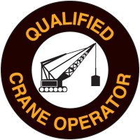 Safety Training Labels - Qualified Crane Operator