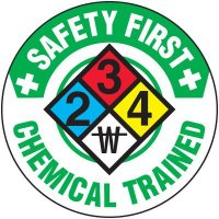 Safety Training Labels - Safety First Chemical Trained