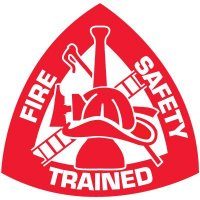 Safety Training Labels - Fire Safety Trained