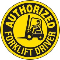 Safety Training Labels - Authorized Forklift Driver