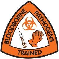 Safety Training Labels - Bloodborne Pathogens Trained