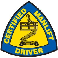 Safety Training Labels - Certified Manlift Driver