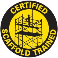 Safety Training Labels - Certified Scaffold Trained