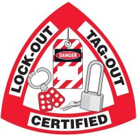 Safety Training Labels - Lock-Out Tag-Out Certified