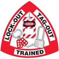Safety Training Labels - Lock-Out Tag-Out Trained