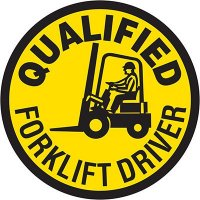 Hard Hat Safety Labels On A Roll - Certified Forklift Driver