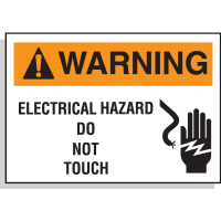Hazard Warning Labels - Warning Electrical Hazard Do Not Touch