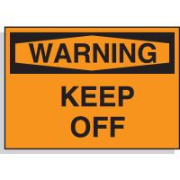 Hazard Warning Labels - Warning Keep Off