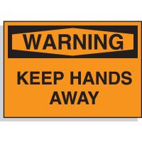 Hazard Warning Labels - Warning Keep Hands Away