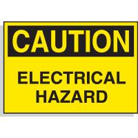 Hazard Warning Labels - Caution Electrical Hazard