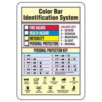 Color Bar Chemical Hazard Identification Sign