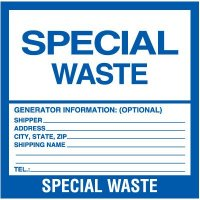 Special Waste Labels