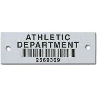 Custom Heavy Duty Bar Code Asset Tags