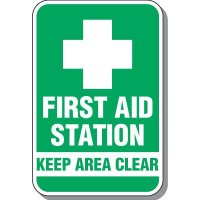 First Aid Keep Area Clear Sign