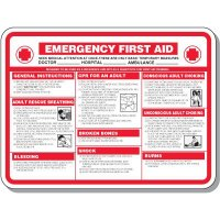 Emergency First Aid Medical Sign