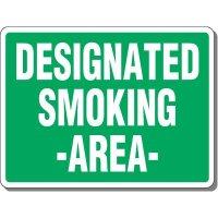 Heavy-Duty Outdoor Smoking Signs - Designated Smoking Area