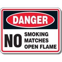 Danger No Matches Sign