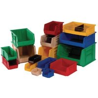 Bin Dividers for Stacking and Hanging Storage Bins