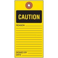 Caution Tyvek Tag