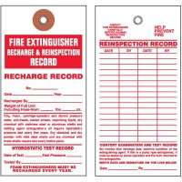 Fire Extinguisher Tyvek Tag