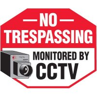 No Trespassing Security Signs