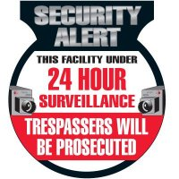 24 Hour Surveillance Security Signs